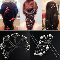 10Pcs/Set Faux Pearl Hairpins Wedding Party Bridal Prom Hair Pins Clips Surprise