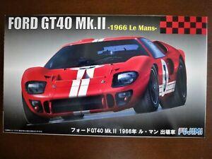 Uber Vintage ! Fujimi 1/24 FORD GT40 Mk.Ⅱ '66 Le Mans Ultra Rare !