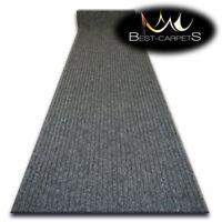 Hall Runners DOOR MATS TRAPPER grey Heavy Duty Non-Slip Rubber width 100-200 cm