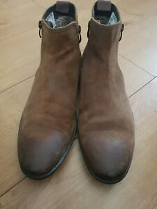 Clarks Collection Men's Brown Tobacco Suede Ankle Boots Uk Size 8.5 EU 42.5 Heel