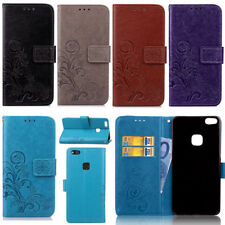 Flower Stand Card Wallet Leather Magnetic Flip Case For Huawei P8 P10 Honor 8 Y6