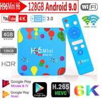 H96 Max Mini H6 6K H.265 TV Box Android 9.0 4GB+128GB Quad Core WiFi Set Top Box