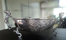 Edwardian TYG Sterling Silver Three Handled Bowl h/m Chester 1910  -  Rams Heads