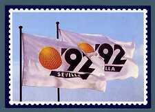SPAIN - SPAGNA - 1992 - Cartolina - Bandiere dell'esposizione filatelica. E3463