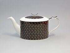 9952246 Porzellan Tee-Kanne Teeblätter auf schwarz  Jameson&Tailor 1,2l H14cm