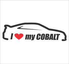 I Love My Cobalt Car Bumper Window Vinyl Decal Sticker SS Supercharged Turbo