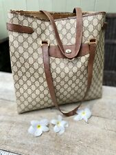 Authentic Gucci Vintage Tote PVC Leather Brown Tote/Shopper  Bag🌺
