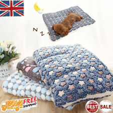 Pet Mat Paw Print Cat Dog Puppy Fleece Mattres Cushion Bed Blanket Warm Soft NEW