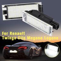 2x 12V LED SMD E4 Feux Éclairage Plaque pour Renault Twingo Clio Megane Lagane
