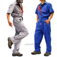 Mens Boilersuit Coverall Overall Workwear Work short sleeves Uniform Jumpsuit
