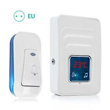 Kabellose Türklingel Wasserdichte Funkklingel Wireless Doorbell Temperaturanzei