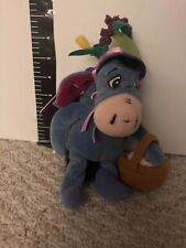 EEYORE Disney Easter Bonnet Bean Bag Plush with Basket Eggs