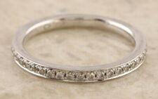 Platinum 950 Half Eternity Multi Diamond Ring Size J