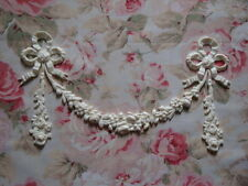 Shabby & Chic BOWS ROSE FLORAL DROP GARLAND Furniture Applique Architectural