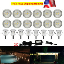 10/20Pcs Warm White 12V 0.6W 30mm Outdoor Garden Yard LED Rail Stair Deck Lights