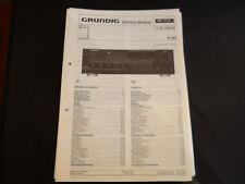 Original Service Manual Grundig R 303