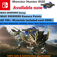 Monster Hunter Rise (Switch Save Edit) Mod Service, GAME Not Included