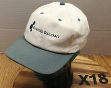 VINTAGE ROCKFORD TOOLCRAFT HAT WHITE/GREEN SNAPBACK USA MADE VERY GOOD COND X18