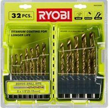Titanium Drill Bits Set Ryobi 32 Piece for Wood Plastic Metal