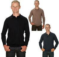 Ugholin Pull Homme Cachemire Fin Col Polo Manches Longues
