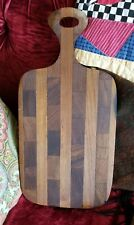 Food cutting board, dark wood, small
