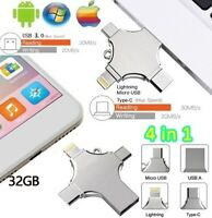 Photo Stick USB Stick Flash Memory Drive High Speed 32GB OTG 4 in1 Metal Storage