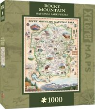 Rocky Mountain Map 1000-Piece Jigsaw Puzzle
