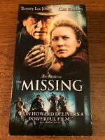 The Missing VHS VCR Tape Movie Cate Blanchett, Tommy Lee Jones Rated R Used