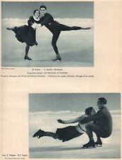 ICE FIGURE PAIR SKATING. Rotter/Szollas, Hungarian Champions. Nalder/Taylor 1935