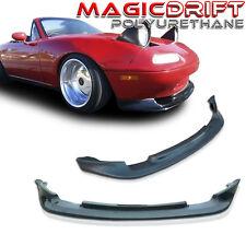 90 91 92 93 Mazda Miata MX5 JDM GV Vary Front Chin Splitter + FD Side Skirts Kit