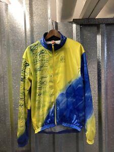 Bicycle- Line Warm Long Sleeve Yellow Blue Cycling Jacket 7 XXXLarge