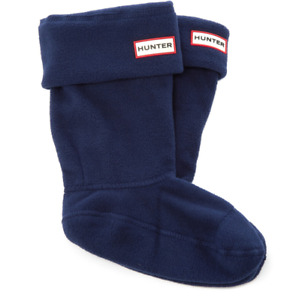 Hunter Navy Womens Short Fleece Welly Boot Socks Sz M 0015