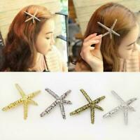 Women Alloy Starfish Bobby Pin Wedding Girls Hair Clip Hairpin Bride Starfish