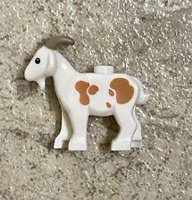 Lego Goat - Minifig, Animal - 7189 Kingdoms - Goat, Brown Spots & Horns, Rare