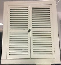 NEW Rustic Shabby Chic White Wood Wooden Shutter Mirror Parisian French 68x58cm