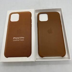 Official Genuine Apple iPhone 11 Pro Leather Back Case Saddle Brown Original