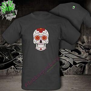 T-Shirt La Catrina Mexikanischer Zuckerschädel Skull Tattoo Totenkopf Motiv 6