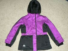 EXCELLENT ZeroXposur Winter Hooded Coat Jacket SMALL 7/8 GIRL Youth PURPLE BLACK
