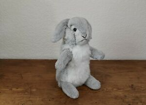 STEIFF GREY AND WHITE RABBIT - 14 INCHES