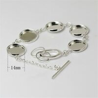 1PCS Silver/Bronze Base Tray Setting Blank Bangle Bracelet Jewelry Making