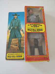 "Vintage 1973 Excel Toy Corp Legends Of The West Wild Bill Hickok 9.5"" Figure"