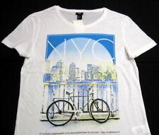 H & M Man T-shirt Tee Top Men's T shirt Sleeveless Tank NWT M White