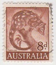 (PDX565) 1959 AU 8d Brown Tiger Cat (A)