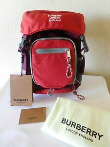 New Burberry London Leo Bright Red Sling Shoulder Bag