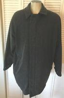Woolrich Men's Large 80% Wool Blend Coat Gray Jacket