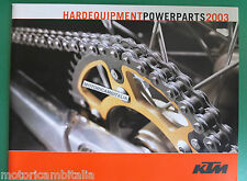 KTM MOTO  ENDURO POWERPARTS 2003 ACCESSORI CATALOGO BROCHURE