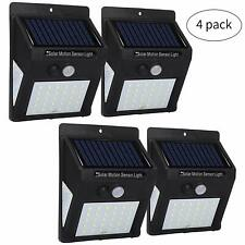 4 x Bright LED Wireless Solar Powered Outdoor Security Garden Wall Fence Light