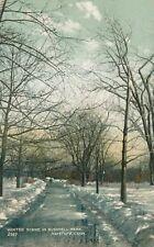 HARTFORD CT – Bushnell Park Winter Scene