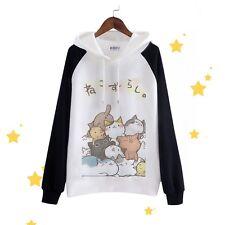 Game Neko Atsume Cute Cat Cosplay Hoodies Unisex Long Sleeve Hooded Sweatshirt