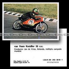 #mtr76.063 ★ Pilote JAN DE VRIES VAN VEEN KREIDLER 50 1970's ★ Moto Motorismo 76